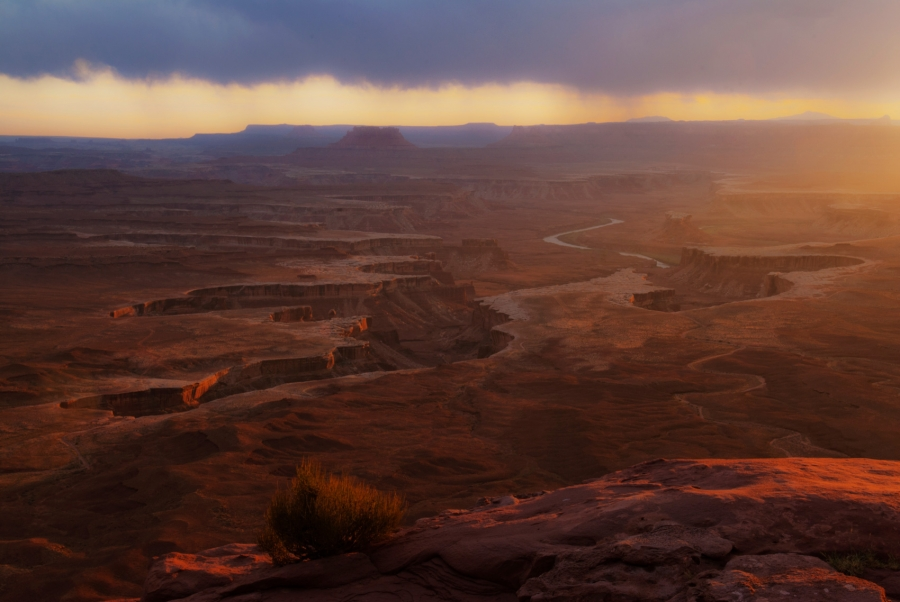 Sunset at the Green River Overlook +
