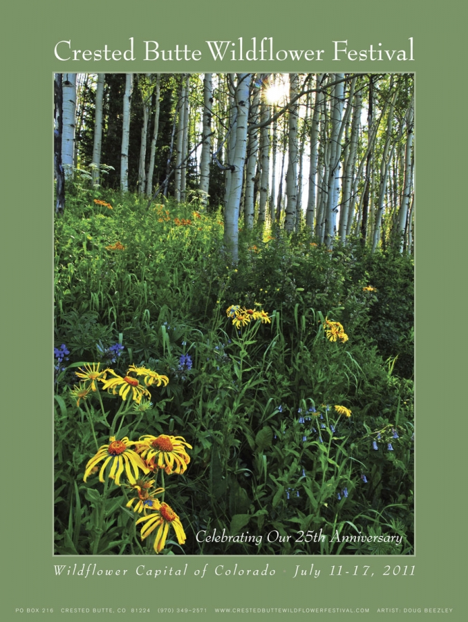 Official 2011 Crested Butte Wildflower Festival Poster +